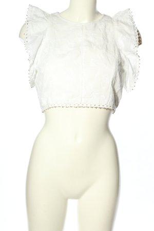 Zara Woman ärmellose Bluse weiß Elegant