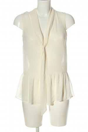 Zara Woman ärmellose Bluse wollweiß Casual-Look