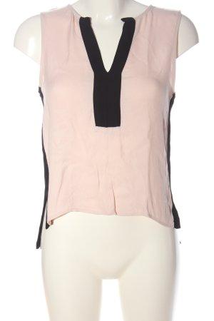 Zara Woman ärmellose Bluse pink-schwarz Casual-Look