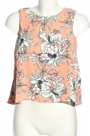 Zara Woman ärmellose Bluse Blumenmuster Casual-Look