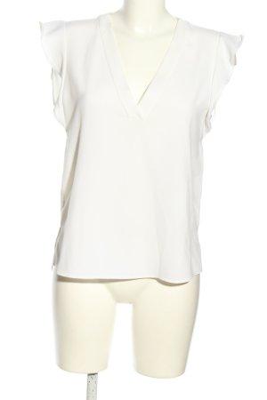 Zara Woman ärmellose Bluse weiß Business-Look