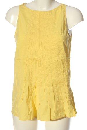 Zara Woman ärmellose Bluse blassgelb Casual-Look