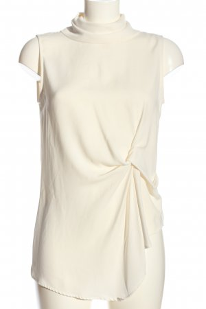 Zara Woman ärmellose Bluse creme Business-Look