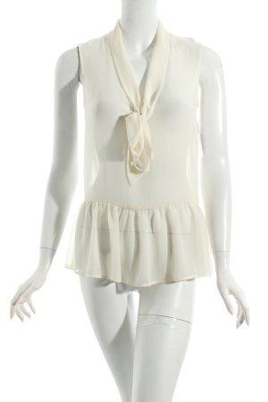 Zara Woman ärmellose Bluse creme Casual-Look