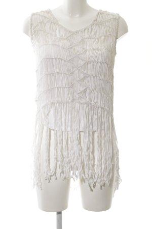Zara Woman ärmellose Bluse weiß Casual-Look
