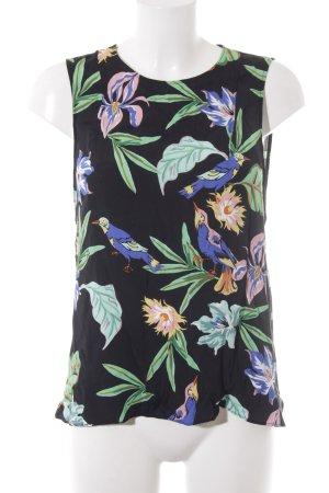 Zara Woman ärmellose Bluse florales Muster