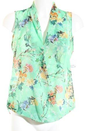 Zara Woman ärmellose Bluse florales Muster Casual-Look