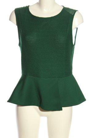 Zara Woman ärmellose Bluse grün Elegant