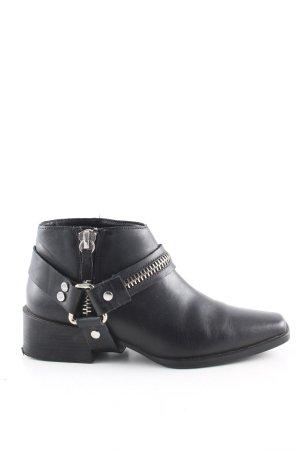 Zara Woman Ankle Boots schwarz Casual-Look