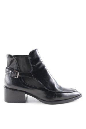 Zara Woman Ankle Boots schwarz Business-Look