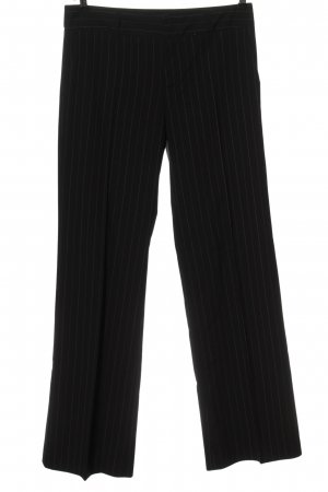 Zara Woman Pantalón de vestir negro estampado a rayas estilo «business»