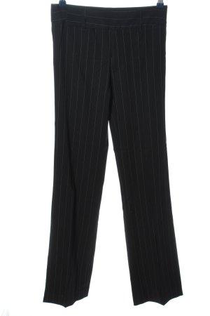 Zara Woman Anzughose schwarz Streifenmuster Business-Look