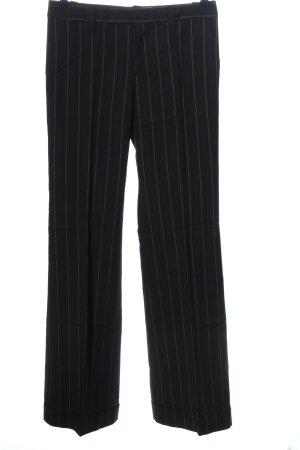 Zara Woman Anzughose weiß-schwarz Streifenmuster Business-Look