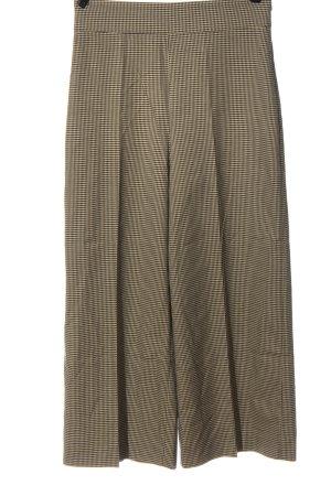 Zara Woman Pantalon de costume crème-noir imprimé allover élégant