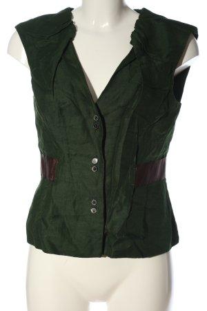Zara Woman Anzugweste grün Casual-Look