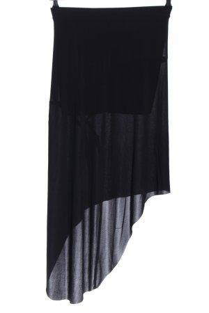 Zara Woman Asymmetrie-Rock schwarz Casual-Look