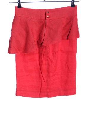 Zara Woman Asymmetrie-Rock rot Casual-Look
