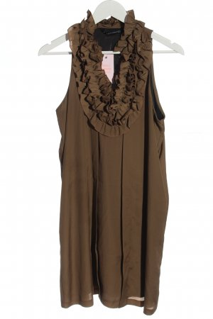 Zara Woman Robe Babydoll bronze style décontracté