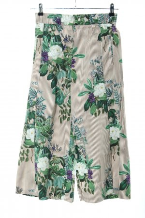 Zara Woman Pantalón abombado estampado repetido sobre toda la superficie