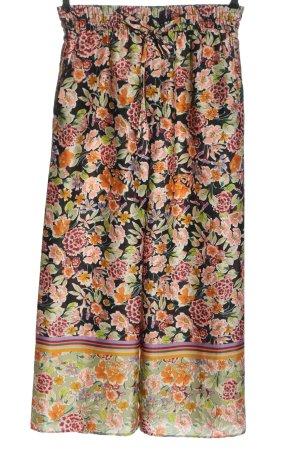 Zara Woman Baggy Pants Allover-Druck Casual-Look