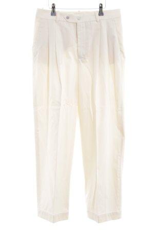 Zara Woman Pantalón abombado blanco puro elegante