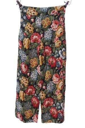 Zara Woman Baggy Pants Blumenmuster Casual-Look