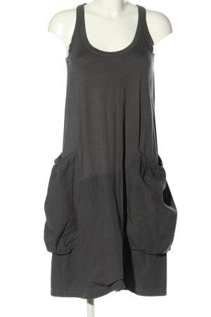 Zara Woman Sukienka z rękawem balonowym jasnoszary W stylu casual