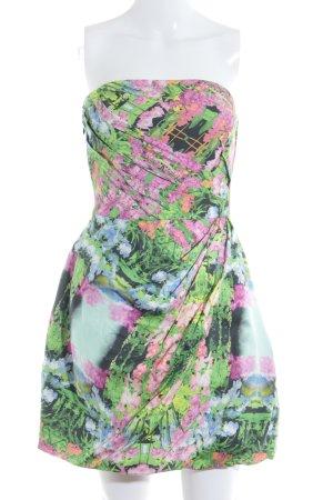 Zara Woman Bandeaukleid mehrfarbig Party-Look