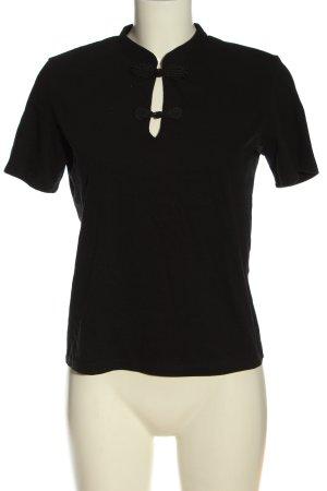 Zara Woman Basic-Shirt schwarz Casual-Look