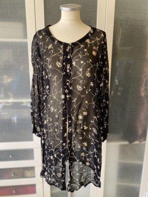 Zara Woman Bluzka tunika czarny