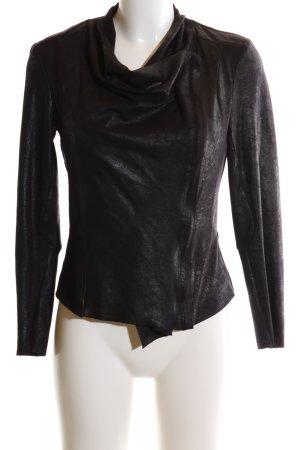 Zara Woman Bikerjacke schwarz Glanz-Optik