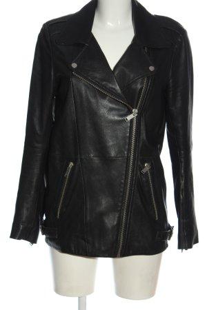 Zara Woman Veste motard noir style décontracté