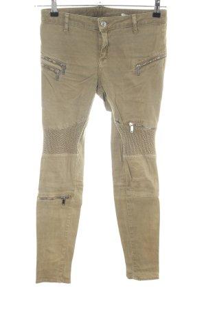 Zara Woman Jeans da motociclista cachi stile da moda di strada
