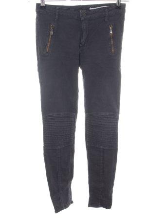Zara Woman Jeans da motociclista nero stile casual