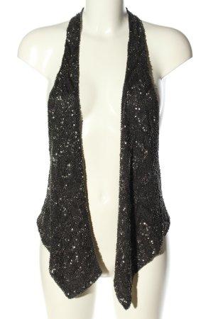 Zara Woman Chaleco de motorista negro look casual