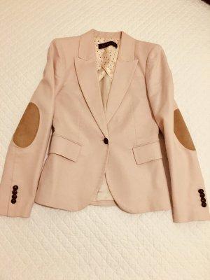 Zara Woman Blazer stile Boyfriend rosa antico-rosa pallido Cotone
