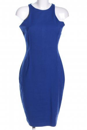 Zara Woman Bleistiftkleid blau Business-Look
