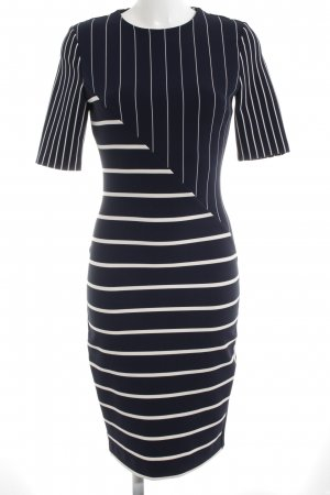 Zara Woman Bleistiftkleid dunkelblau-weiß Streifenmuster Marine-Look