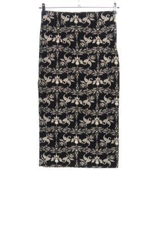 Zara Woman Bleistiftrock schwarz-weiß Allover-Druck Casual-Look