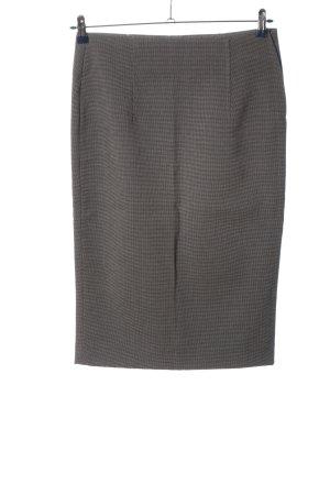 Zara Woman Bleistiftrock schwarz-wollweiß Webmuster Business-Look