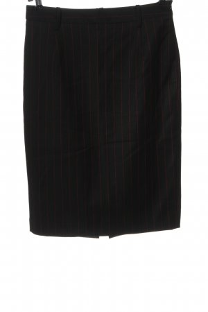 Zara Woman Bleistiftrock schwarz Streifenmuster Business-Look