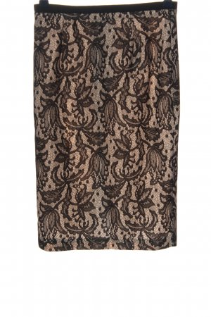 Zara Woman Bleistiftrock weiß-schwarz Allover-Druck Casual-Look