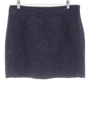 Zara Woman Bleistiftrock schwarz-dunkelblau meliert Casual-Look
