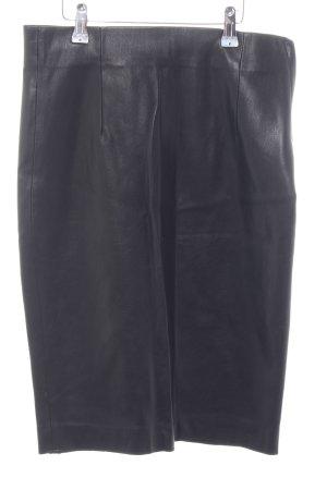 Zara Woman Bleistiftrock schwarz Glanz-Optik