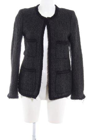 Zara Woman Blouson schwarz meliert klassischer Stil
