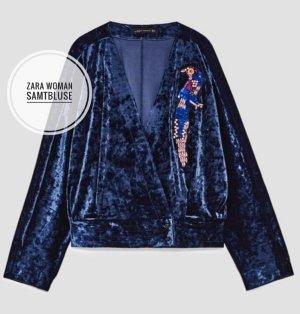 Zara Woman Bluse aus samt Neu