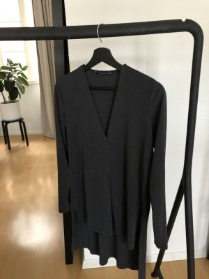 Zara Woman Bluse, dunkelgrau