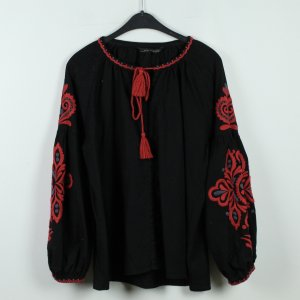 Zara Woman Bluse Gr. M schwarz bestickt (19/10/250)