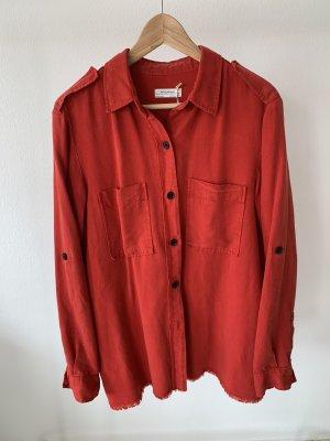 Zara Woman Blouse-chemisier rouge-rouge foncé lyocell