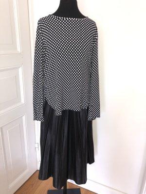 ZARA Woman° Bluse° Shirt° Damen° schwarz-weiß° Punkte° Gr. 38° TOP°